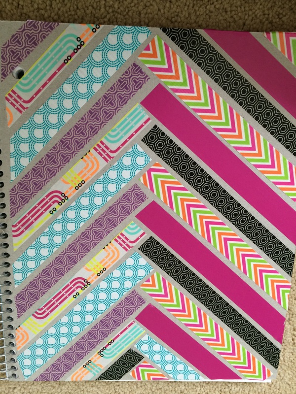 Diy Washi Tape Notebooks Back To School Ellie Taylor